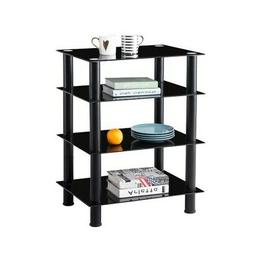 Media TV Stand Audio Video Tower Tempered Glass Shevles for
