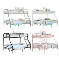 Metal Bunk Beds Twin over Full Size Ladder Kid Teen Dorm Lof