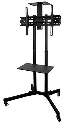 Mount-It! MI-876 TV Cart Mobile TV Stand Wheeled Height Adju