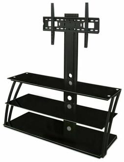 Mount-It! TV Stand with Mount and Storage Shelves, Entertain