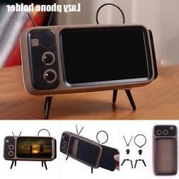 Mini Bluetooth Speaker Retro TV Mobile Phone Screen Stand