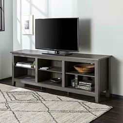 """WE Furniture Minimal Farmhouse Wood Stand for TV's up to 78"""""""