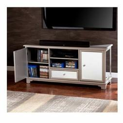 Mirrored Entertainment TV Console Stand Cabinet Crystal Knob