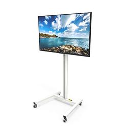 Kanto MKH65W Rolling TV Stand for 37-inch to 65-inch Display
