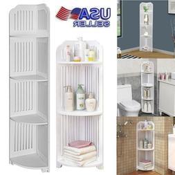 Mobile Shelving Unit Bathroom Corner Storage Shelf Bookcase