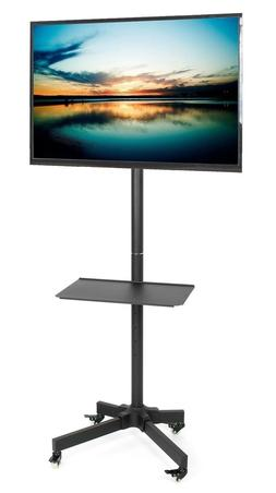 VIVO Mobile TV Cart for LCD LED Plasma Flat Panel Stand w/Wh