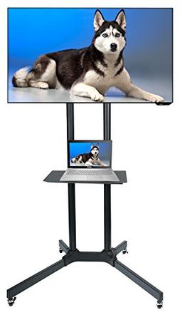 Husky Mount Mobile TV Stand with Wheels Heavy Duty Universal