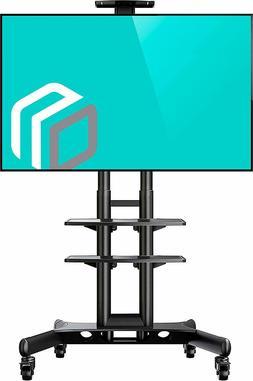 ONKRON Mobile TV Stand TV Cart with Wheels & 2 AV Shelves fo