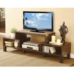 Modern 60-inch TV Stand with Audio Video Media Storage Shelv