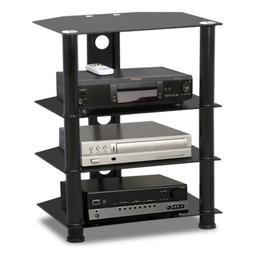 Glass Media Component TV Stand Audio Stereo Hi-Fi AV Enterta