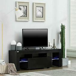 Modern Black 51in High Gloss TV Cabinet Stand Unit Console L