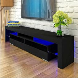 Modern Black 63in High Gloss TV Cabinet Stand Unit Console L