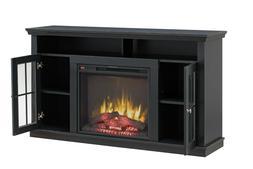 modern black electric heat fireplace stand heater