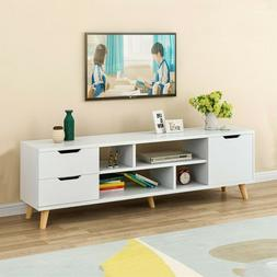 TV Stand Unit Cabinet 3 Drawers 4 Grid Console RC Storage Sh