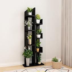Raumeyun Modern Corner 7-Tier Wooden Plant Shelf/Flower Stan