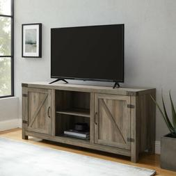 Woven Paths Modern Farmhouse Barn Door TV Stand for TVs up t