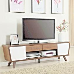 "Modern Mid Century 75"" TV Media Console Stand Cabinet Retro"