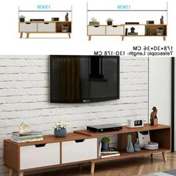 Modern Telescopic TV Stand Storage Cabinet Furniture Home Sh