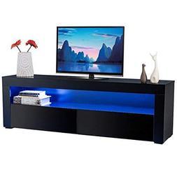 Tangkula Modern TV Stand High Gloss Media Console Cabinet En