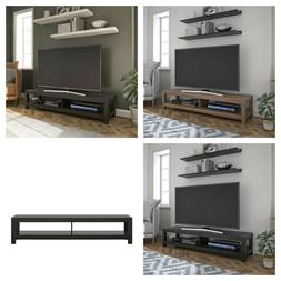 """MODERN TV STAND Low Open Shelf Storage For TVs up to 65"""" Mul"""