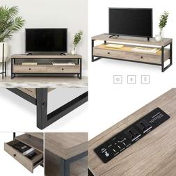 Modern Tv Stand Storage Entertainment Center with Built in S
