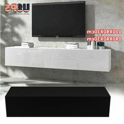 Modern TV Stand Wall Mount Console Cabinet Storage Shelf Liv