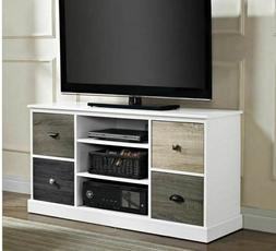 """Modern White TV Stand Console Cabinet Fits 52"""" Media Enterta"""