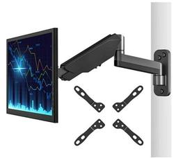 Monitor Wall Mount Bracket–Articulating Adjustable Gas Spr