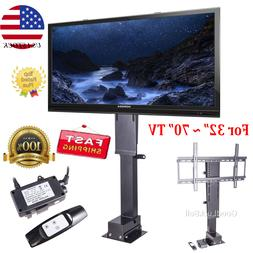 "Motorized Flat TV Lift Mount Stand 32-70"" Screen Remote Cont"