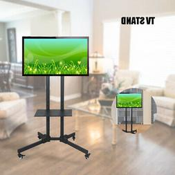 Movable Adjustable Mobile TV Stand LED Flat Screen Bracket W