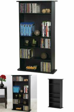 Multimedia Storage Cabinet CD DVD Rack Book Shelf Organizer