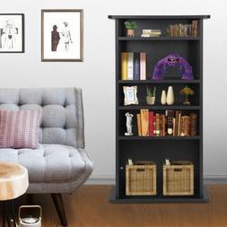 Multimedia Storage Cabinet DVD Rack Book Shelf Organizer Sta