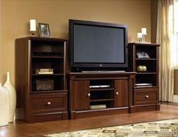 new cherry wood entertainment center living room