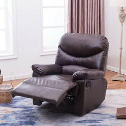 NEW Contemporary Faux Leather Recliner Club Chair Room Sofa