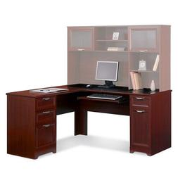 NEW L-Shaped Office DESK  Cherry FREE S&H