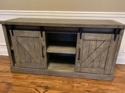 New modern farmhouse gray TV stand/office furniture