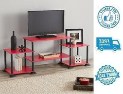 New Red 3 Cube TV Stand Entertainment Center Television Medi