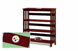 Bookshelf TV Stand Entry Table Man Cave Cherry Finish with N