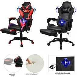 Office Chair Ribbed Gaming Chair Racing Swivel Ergonomic Com