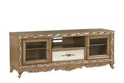 Acme Furniture Orianne Antique Gold TV Stand 91433