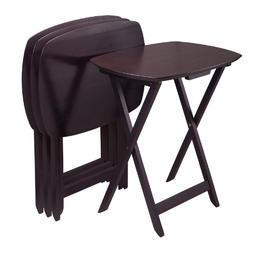 Winsome Oversize Single TV Tables, Espresso, Set of 4