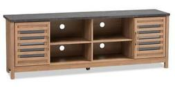 """Pacific Modern and Contemporary Two Tone Finished 71"""" TV Sta"""