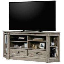 "Sauder Palladia Contemporary Wood 60"" Corner TV Stand in Spl"