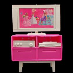 Plastic Play TV Stand Cabinet 1/6 Scale For Barbie Doll's Do