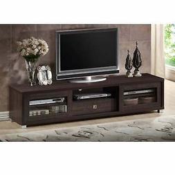 Porch & Den Fiesta 70-inch Dark Brown TV Cabinet Brown Moder