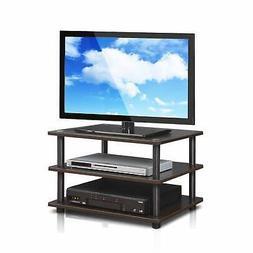 Porch & Den St. Marks 3-tier TV Stand Espresso/Black Modern