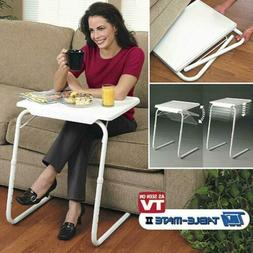 Portable Foldable Table Adjustable Tray Laptop Desk Stand TV