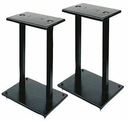 "13"" Quad Speaker Stands  - Universal Heavy Duty Steel Base"