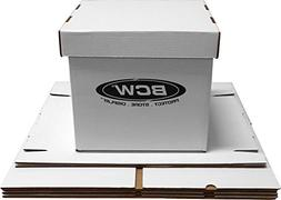 """BCW Brand 12"""" Record Album Storage Box with Removable Lid -"""