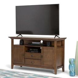 Simpli Home 3AXCADM-06 Redmond Solid Wood Tall TV Media Stan